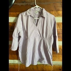 Lavender maternity top